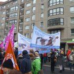 """URIA e.V. mit Info Stand in Berlin bei der """"Wir haben es satt"""" Demo"""