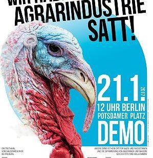 """Wir haben Agrarindustrie satt"" Demo in Berlin am 21.Januar 2017"