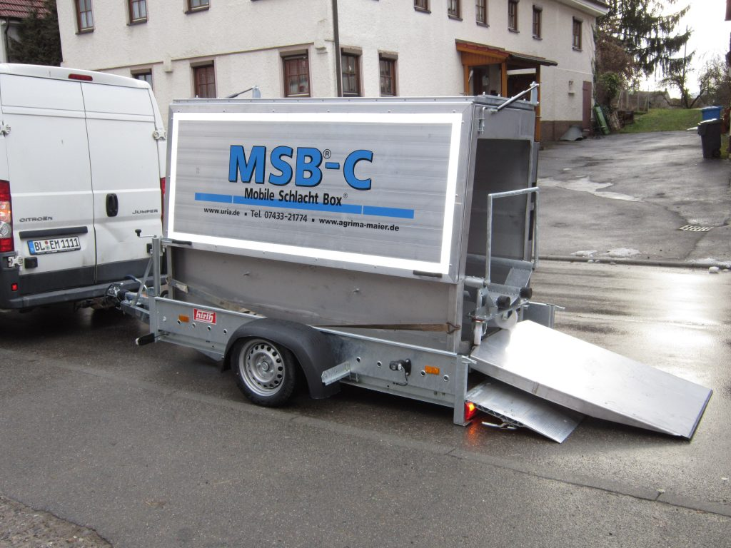 Mobile Schlachtbox