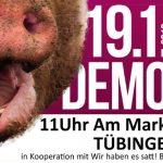 """URIA bei Demo in Tübingen """"Wir haben es satt"""" am 19. Januar 2019"""