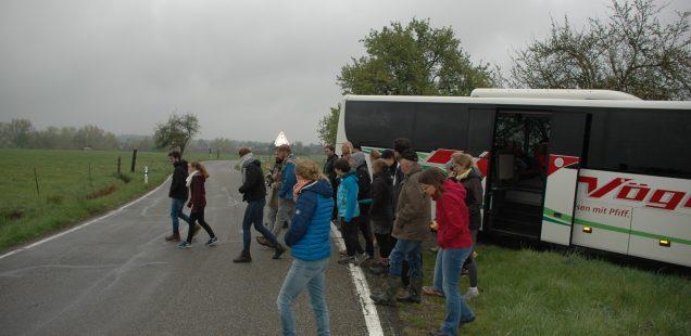 Zweite Lehrfahrt der Hochschule für Forstwirtschaft in Rottenburg am 30. April 2019 zum Uria-Projekt