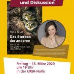 Die Veranstaltung am Freitag 13. März 2020, 19.00 Uhr mit Dr. Tanja Busse in der Uria-Halle in Balingen-Ostdorf findet nicht statt.  Sobald ein neuer Termin feststeht, erfolgt eine erneute Mitteilung und Einladung.